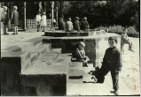 Margaret Bourke-White, Young Russian children playing around the front steps of medical school (Tiflis 1931)