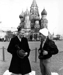 Bowie mit dem befreundeten Iggy Pop 1977 in Moskau
