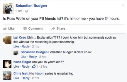 Budgen butthurt