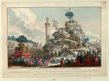 Vue de la montagne elevée au Champ de la Reunion - pour la fête qui y a été célebrée en l'honneur de l'Etre Suprême le Decadi 20 Prairial de l'an 2.me de la Republique Française - [estampe] _ [non identifié]