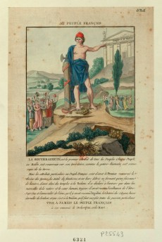 Au peuple français - la souveraineté est le premier attribût de tous les peuples... - [estampe] _ [S. Goulet ?]