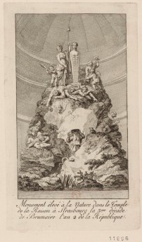 Monument élevé à la Nature dans le Temple de la Raison à Strasbourg la 3.me décade de Brumaire l'an 2 de la République - [estampe] _ [non identifié]