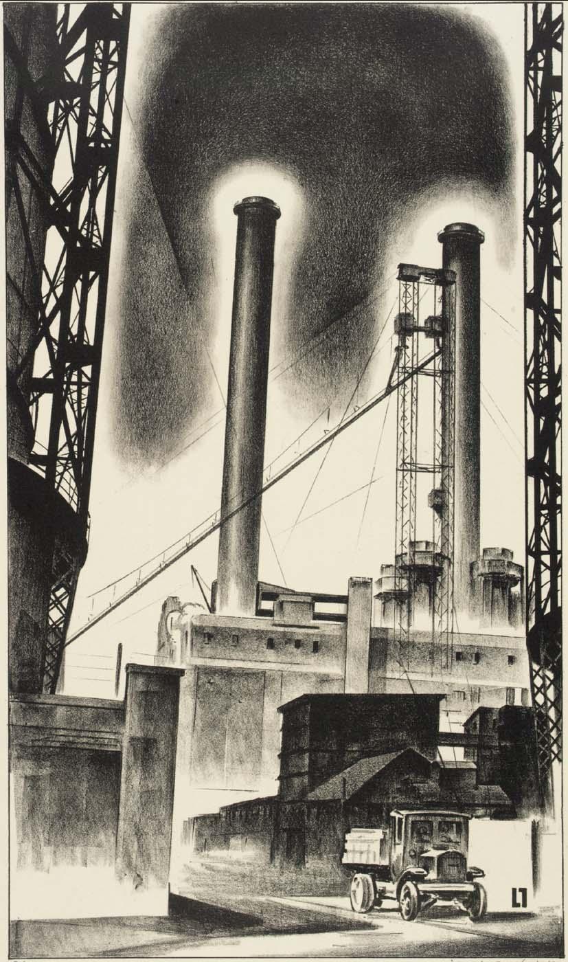 Edison Plant (Industrial Architecture) (Gas Plant) 1929