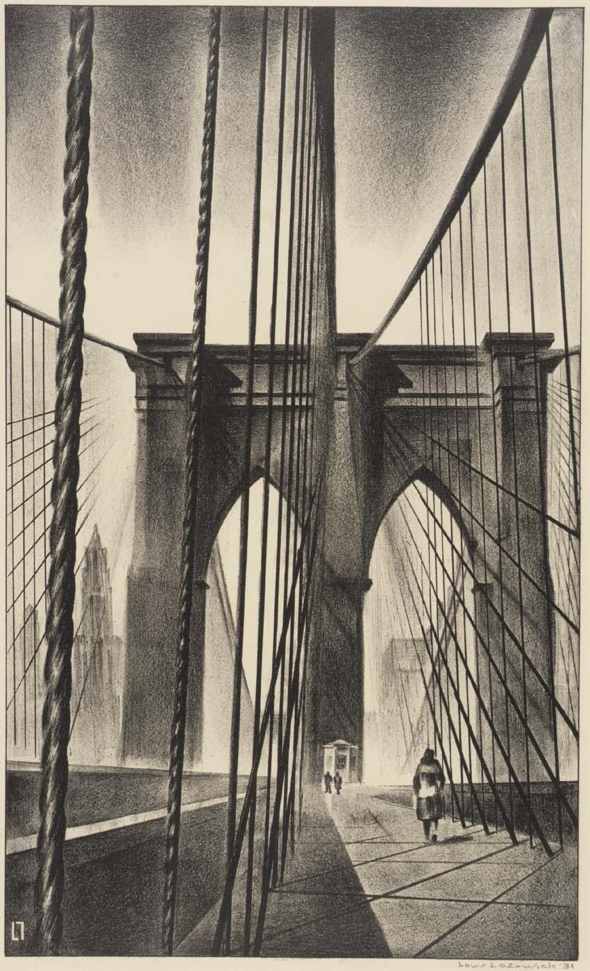 Louis Lozowick, Brooklyn Bridge (1930)