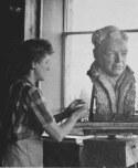 jo-jenks-at-work-on-reichs-bust-organon-observatory-summer-1948