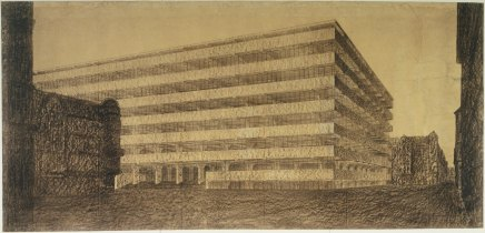 ludwig-mies-van-der-rohe-concrete-office-building-project-berlin-germany-exterior-perspective-1923