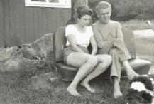 paul-and-ilse-in-vermont-an-old-car-seat-serves-as-an-outdoor-bench