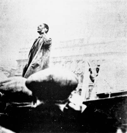 C. L. R. James speaking in Trafalgar Square, mid-1930s