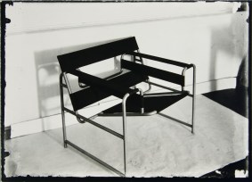 Lucia Moholy, Designer- Marcel Breuer Tubular Steel Club Chair, First Prototype (1925)