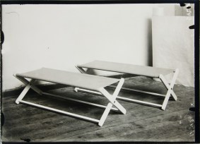 Lucia Moholy, Furniture by Ernst Gebhardt Daybeds for Chidren (1924)