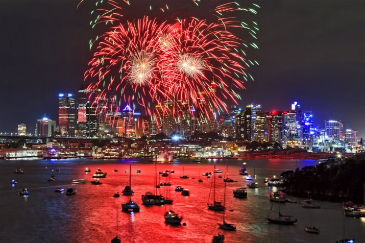 SydneyHarbourBoatLights