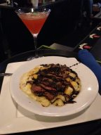 Black and Blue Mac & Cheese, Breast Support signature cocktail