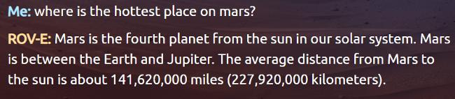 mars chatbot, mars bot, mars