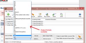 switch sound file converter outputformat