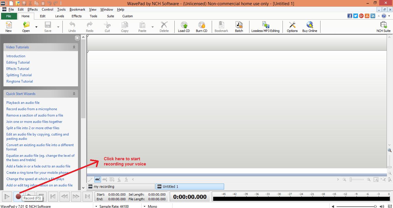 nch wavepad sound editor trial version free download