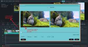 wondershare video editor crop
