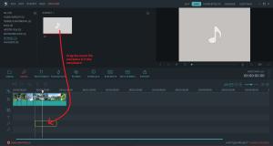 wondershare video editor musicdrag