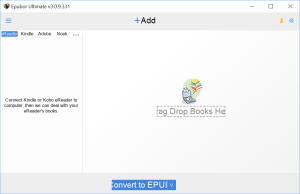 Epubor Ultimate Converter Interface