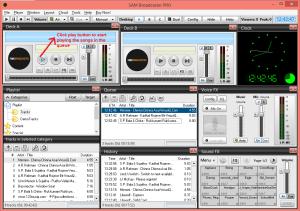 sam broadcaster playmusic
