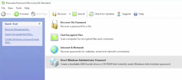 Passware MainScreen