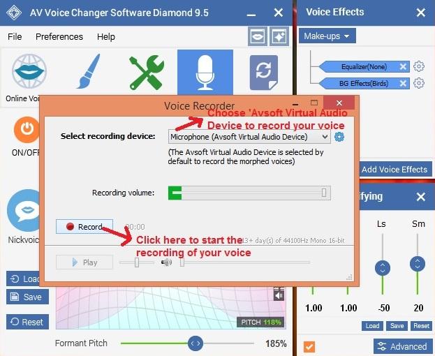 AV Voice changer voicerecorder