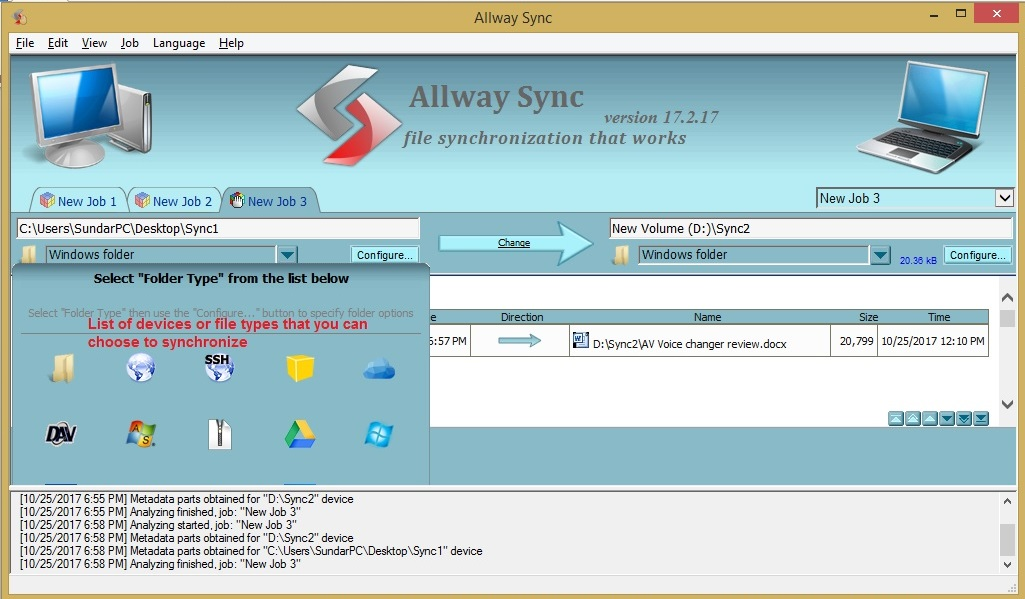 Allway Sync devices