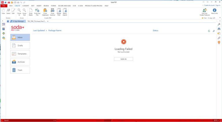 Soda PDF mainscreen