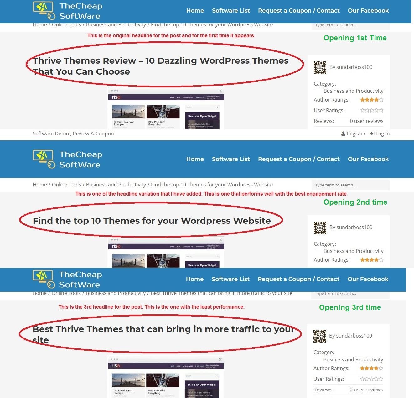 Thrive Headline Optimizer headline preview