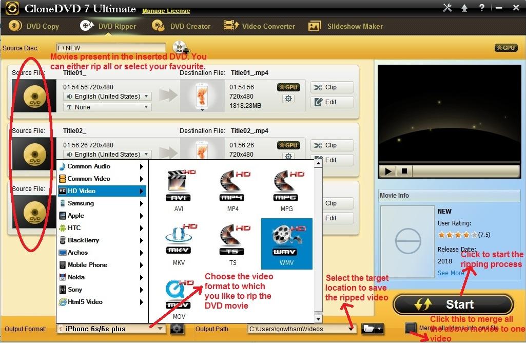 Clone DVD Ultimate DVD ripper