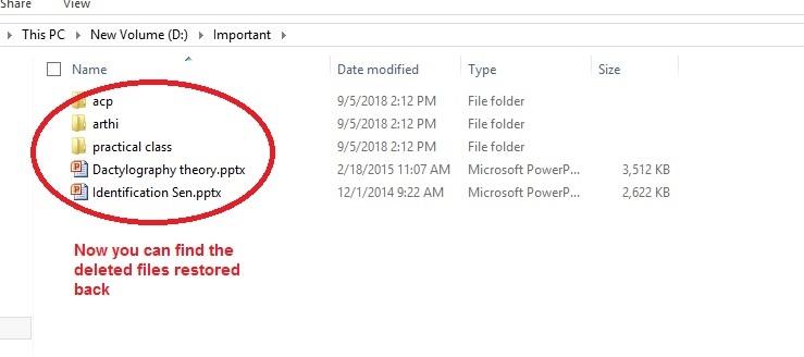 Aomei Backupper Restore files restored