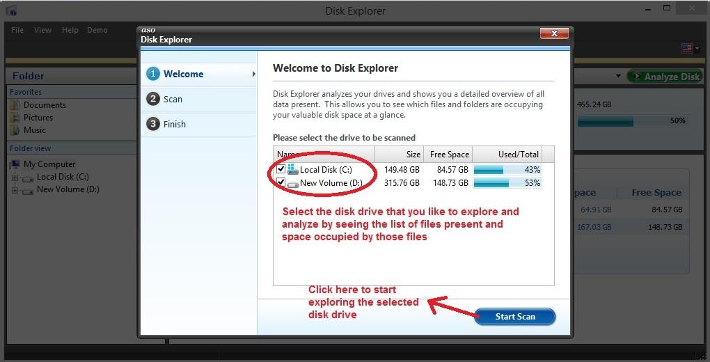 Advanced System Optimizer Disk explorer