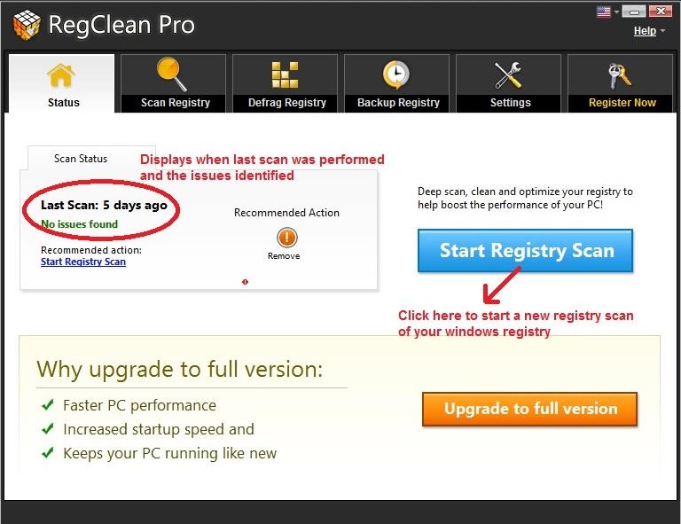 RegClean Pro status