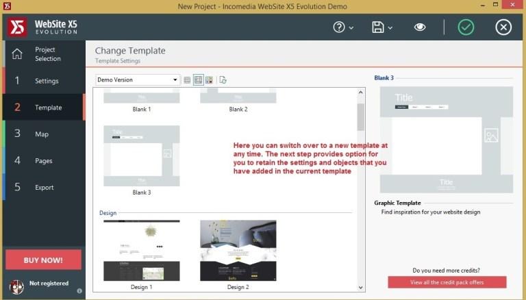 Websiet X5 template_change template