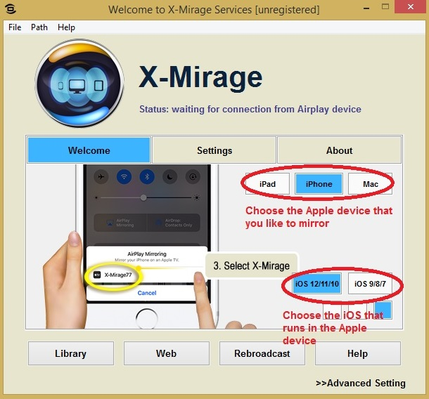 X-Mirage welcome