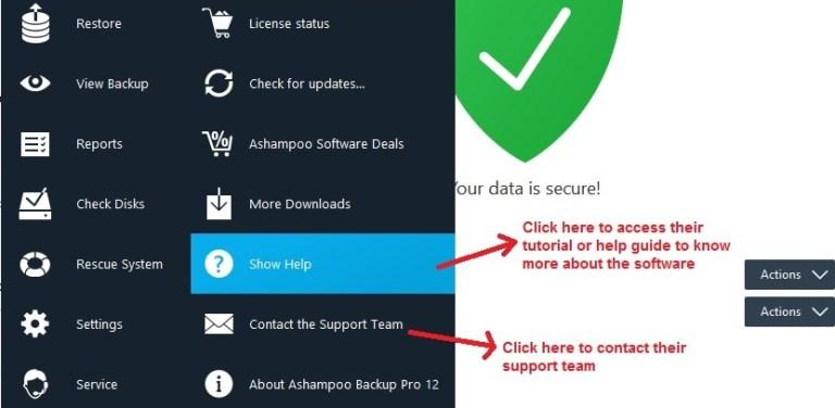 Ashampoo Backup service