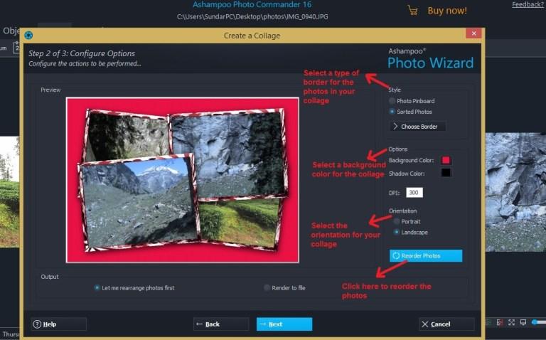 Ashampoo Photo Commander create collage