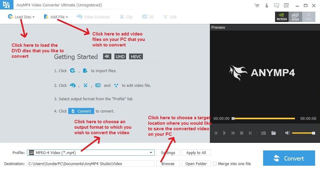 AnyMp4 add video