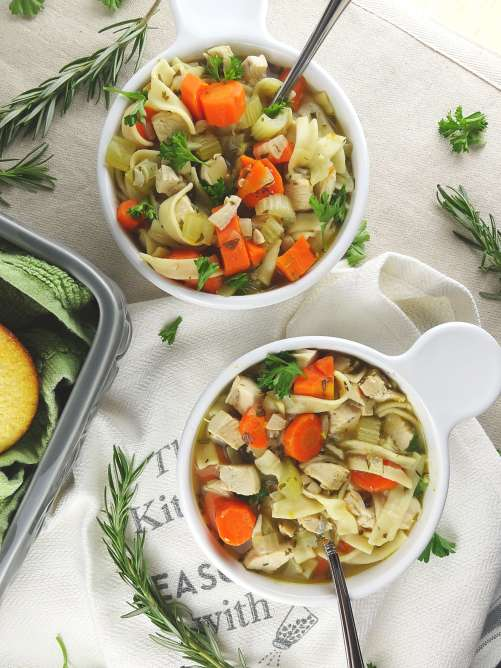 Classic Chicken Noodle Soup Recipe from The Cheerful Kitchen. Good for you and comforting!