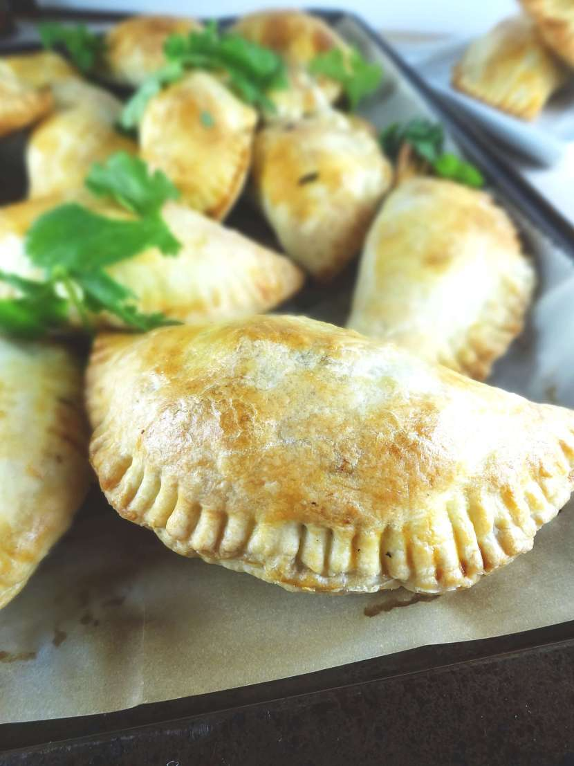 Ground Beef Empanadas from The Cheerful Kitchen. A healthier baked empanada!