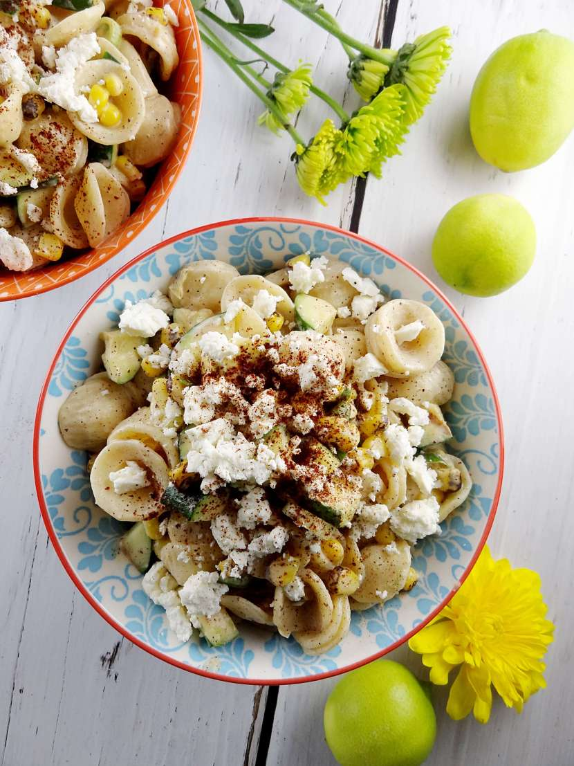 Mexican Street Corn Pasta Salad from The Cheerful Kitchen. Easy pasta salad recipe that's great served cold!