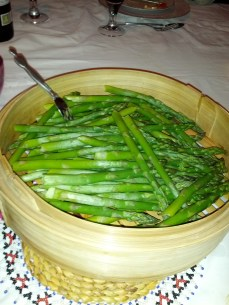 Perfectly steamed asparagus
