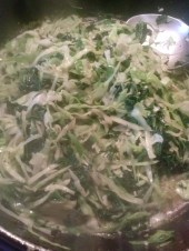 braised cabbage and kale for the Colcannon
