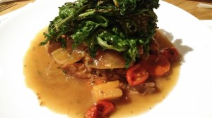 Beef Shank with sauteed Kale