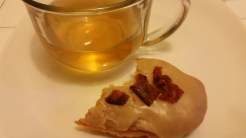 Nothing better than a cup of green tea and a donut