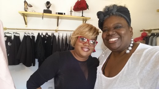 C.I.P. and Monica Parrot, co-owner of Two Boutique