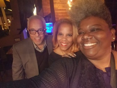 Maynard Eaton of NewsMakersLive, Rochelle Wharton of Culinary Vegg Out and C.I.P.