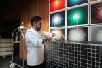 Mauricio Santelice placing dessert
