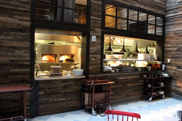 open kitchen at David Burke fabrick