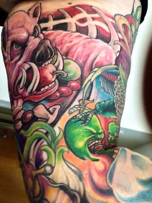 "Chef Chris Richter's ""Smoked Wild Boar Rack"" Tattoo"