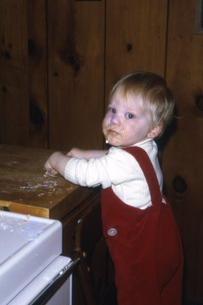 Julian Plyter in 1975, already baking
